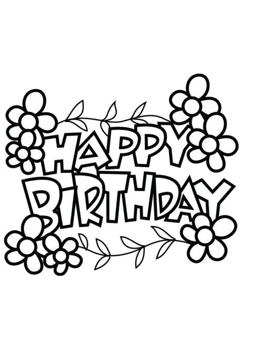Carteles y tarjetas de feliz cumpleaños para colorear | Herli Cumple ...