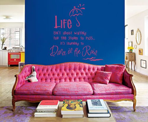 Dance in the Rain Wall Decal   Pink couch, Wall ideas and Wall decals