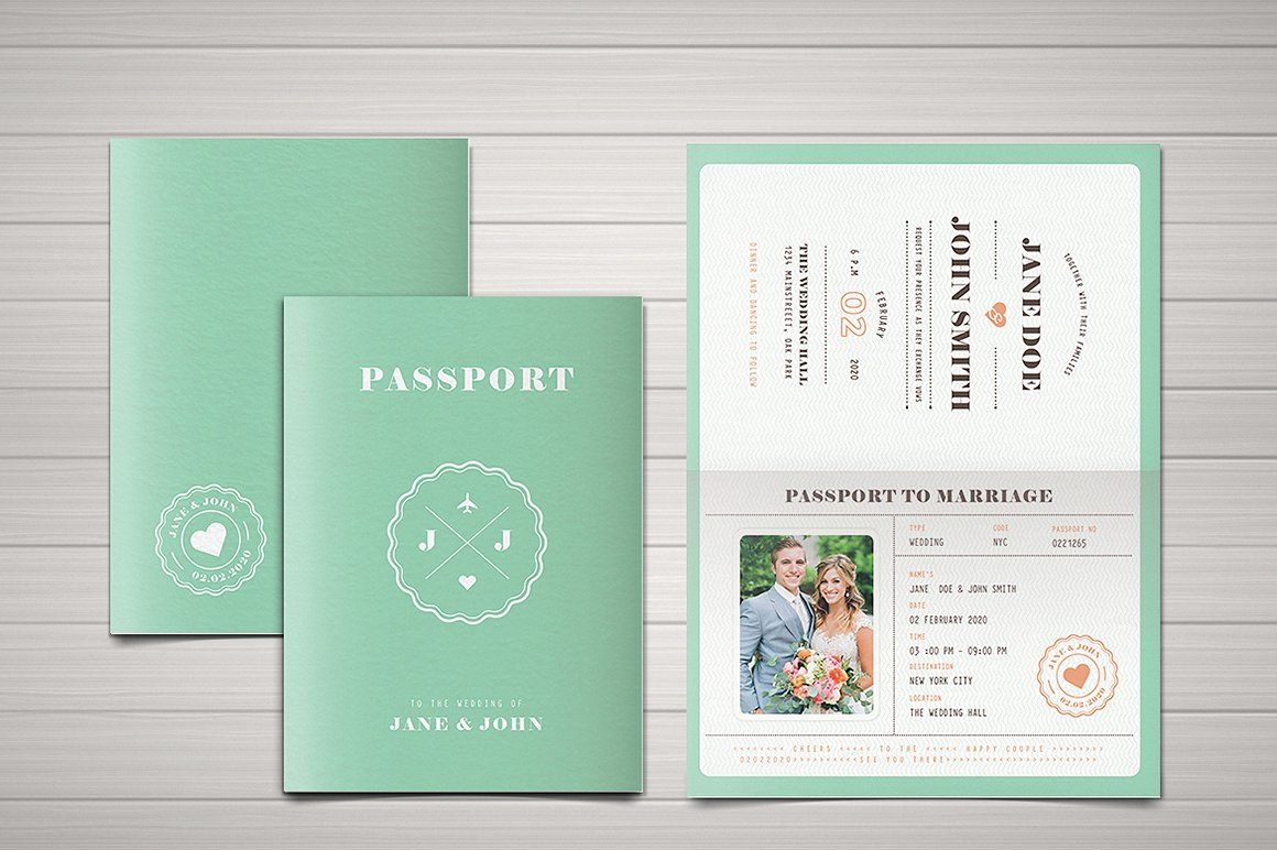 Passport Save The Date Template from i.pinimg.com
