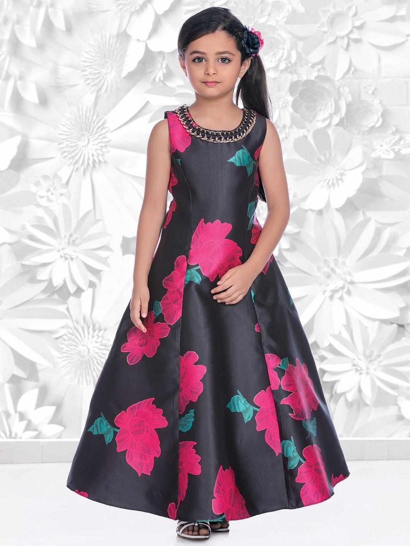 Navy printed silk gown kisha gada pinterest silk gown printed