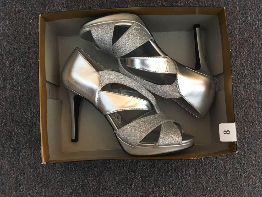 0d06615aec2 HOMECOMING DANCE heels - Fioni Night 8 silver glitter heels sandals 3