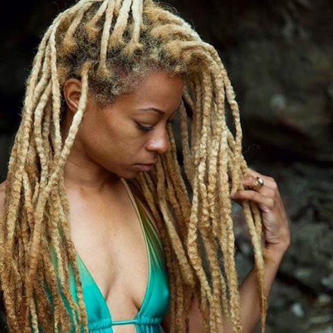 Blond Locs.   How would you describe how your locs feel?