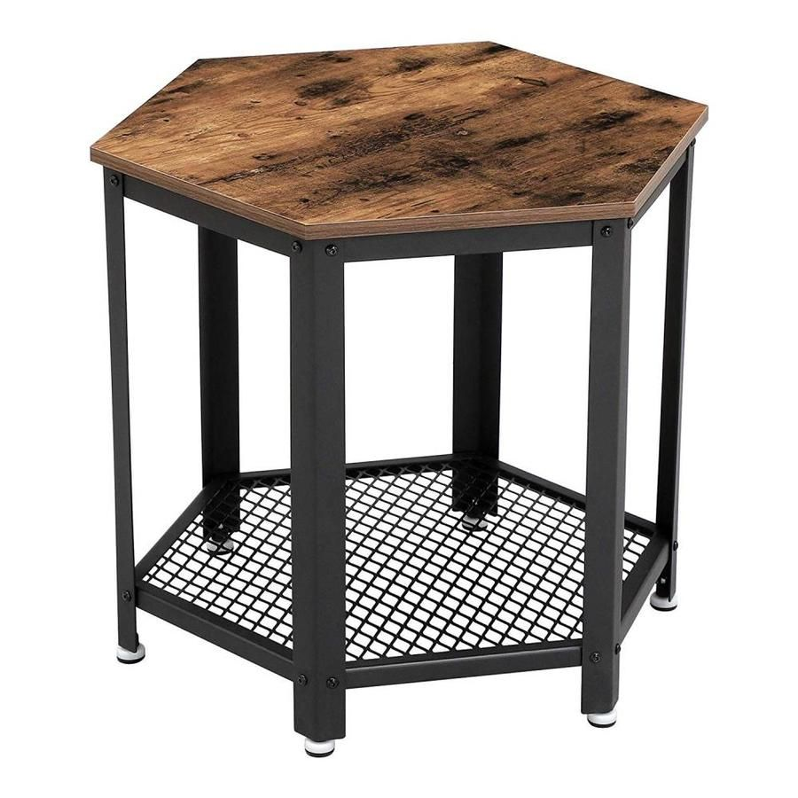 Benzara Brown And Black Wood End Table Bm195864 In 2020