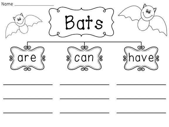 Bats Writing Organizer