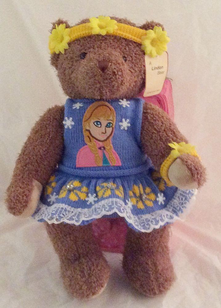 16 inch jointed fan bear Frozen personalise for gran nan mum aunt sis I love u