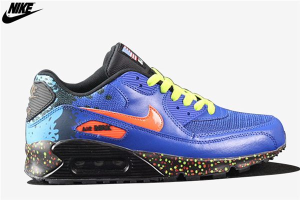 cf0e54ce06 Womens Nike Air Max 90 Running Shoes Royal Blue Orange,Nike-Air Max ...