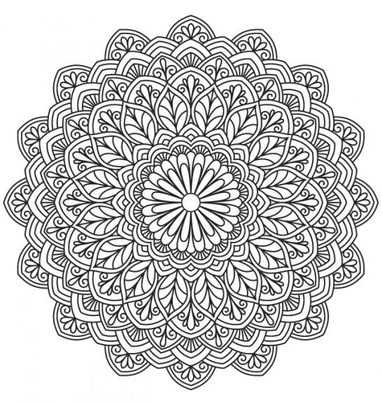 5 Mandalas To Colour In | dekopaj 4 | Pinterest | Mandalas