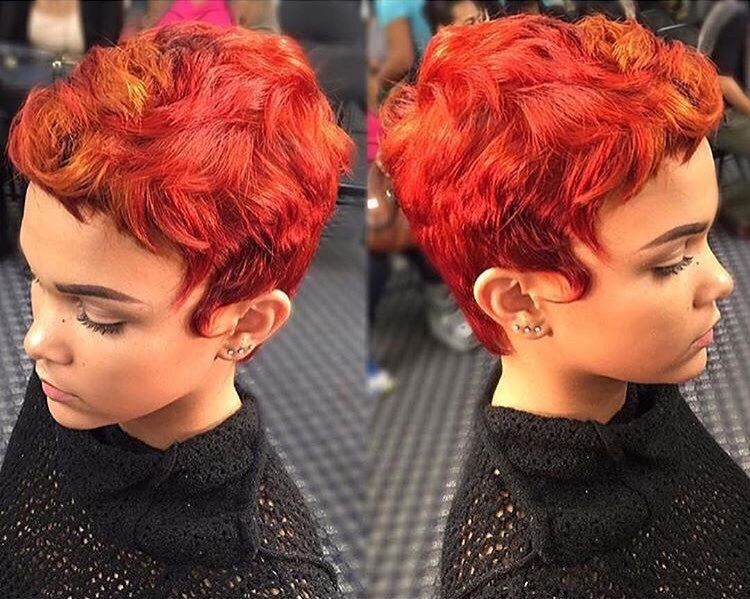 STYLIST SPOTLIGHT: simply fuego! | styled by @msklarie with  #hair #hairinspiration #hairstylist #cosmetologist #haircolor #colorist #redhead #haircut #pixiecut #modernsalon #americansalon #behindthechair #thecutlife #curlbox #styleseat #style #beauty #inspo #instalove #instagood #model