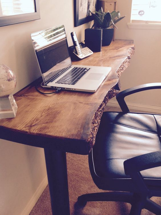 Reclaimed Wood Desk - lanzhome.com