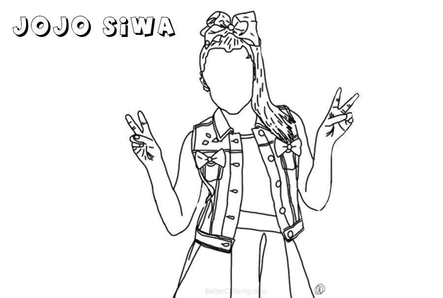 Dancer Jojo Siwa Coloring Pages Hand Drawing Coloring Pages