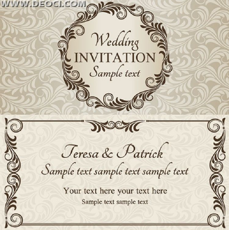 Wedding Invitation Designs Psd Free Download Free Wedding