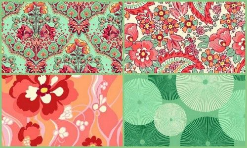 Splurge Stonehill Quilt Fabric Medley Floral Fabric Mint Peach Wilder | auntiechrisquiltfabric - Quilts on ArtFire