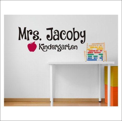 Personalized Teacher Decal Wall Decal Vinyl By CustomVinylbyBridge - Custom vinyl wall decals for classrooms