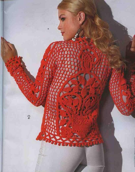 red sweater w/charts