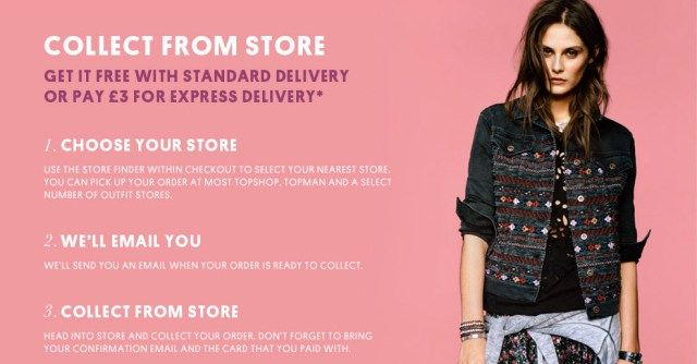 topshop offers different options for omni channel shopping shopper