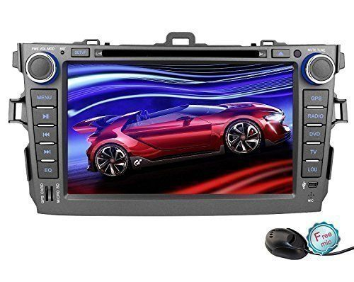 Special Offers - YINUO Android 4.4.4 Double Din 8-Inch Car DVD Player GPS Stereo for Toyota Corolla 2007-2011 1024600 HD Touch Screen In Dash Navigation AV Receiver support AM FM Radio iPhone MirrorLink Steering Wheel Control/Bluetooth/3G/Wifi/Hotspot/OBD2/DVR/AV-IN with Free External Mic & 8GB Map Card - In stock & Free Shipping. You can save more money! Check It (August 28 2016 at 02:29PM)…