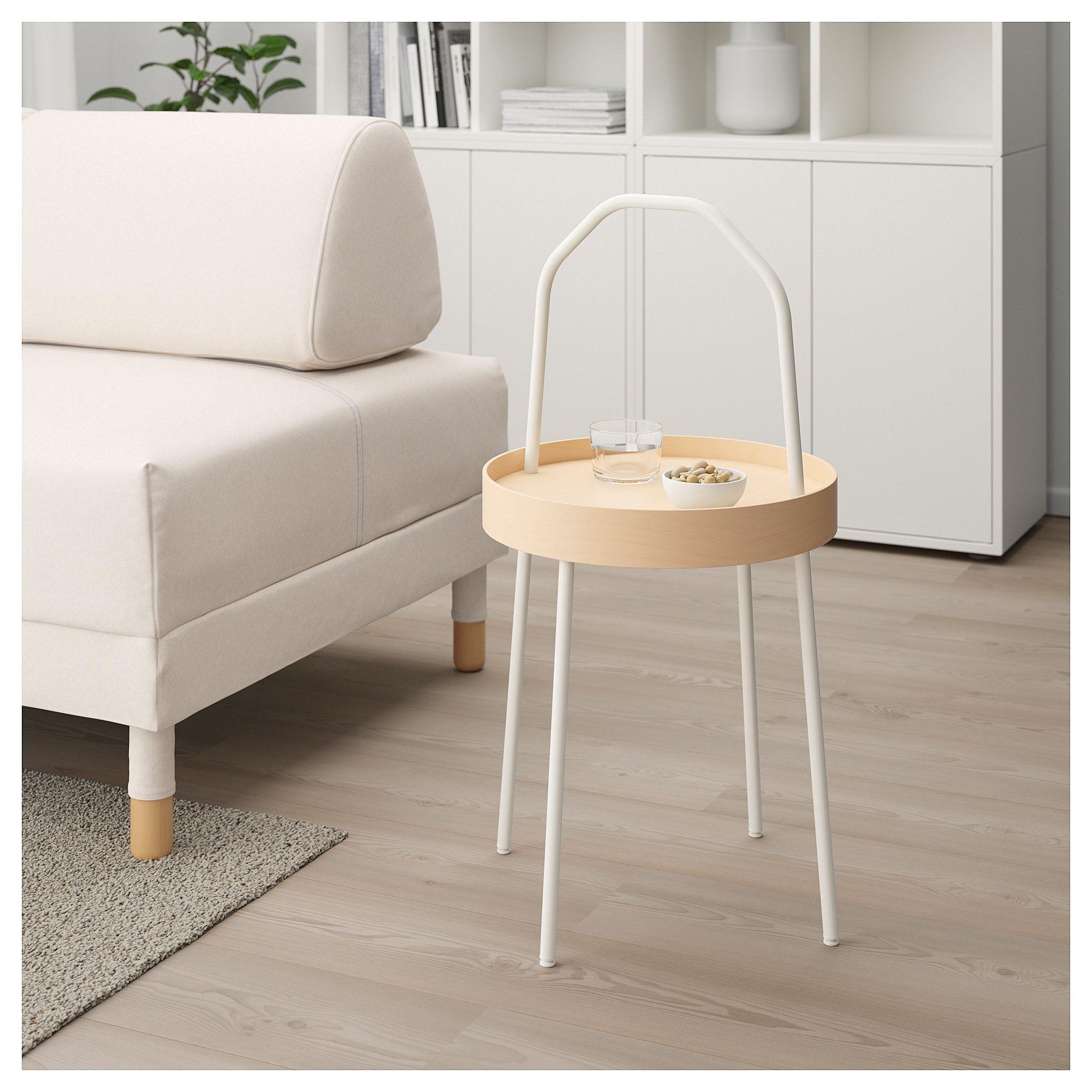 Burvik Side Table Red 15 Ikea Beistelltisch Weiss Beistelltische Beistelltisch