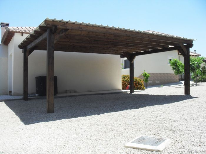 Double timber carport campos del rio murcia landscape for Double carport plans
