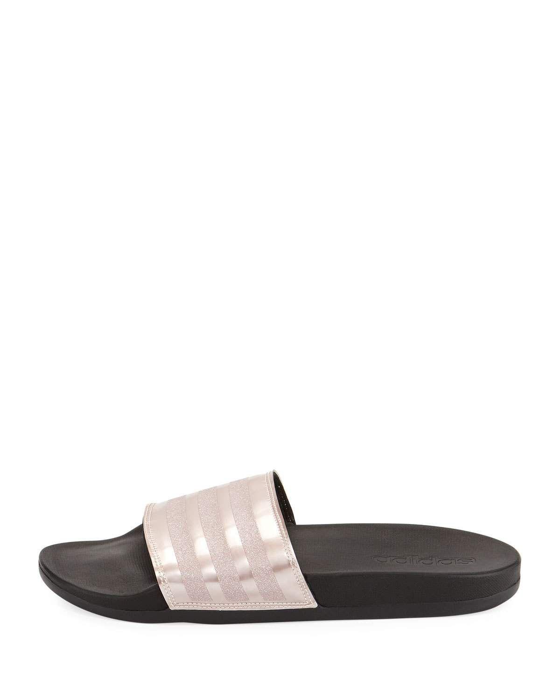 0748ac945 Adidas Adilette Glitter Comfort Slide Sandal