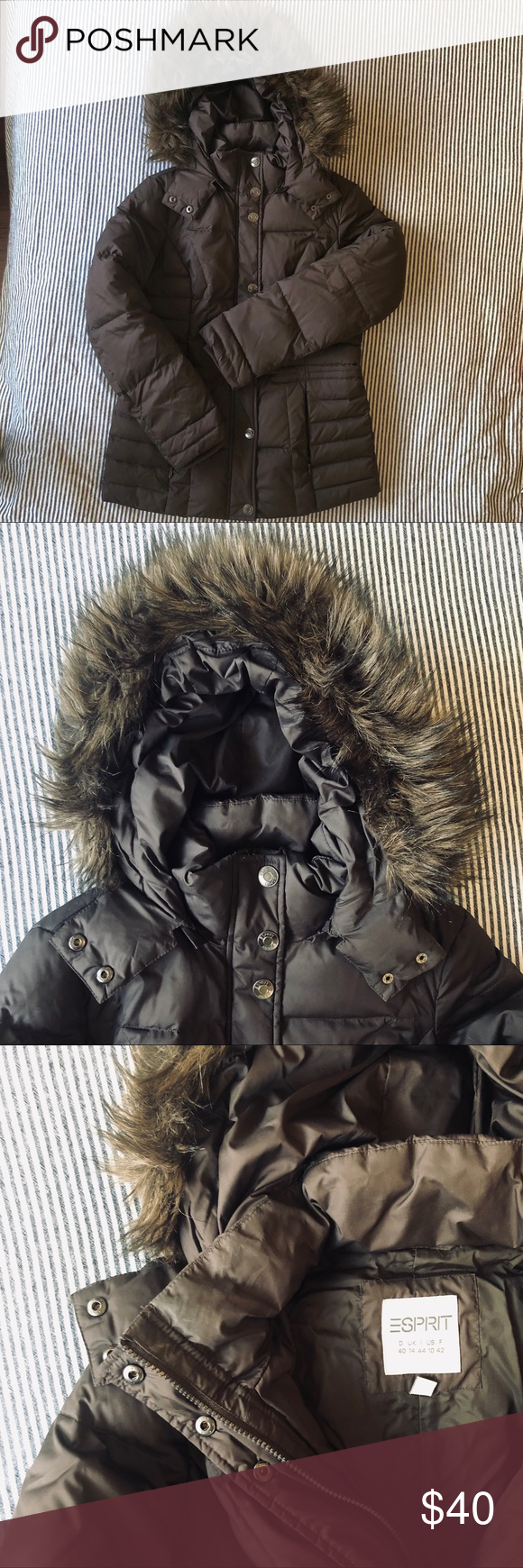 Esprit Winter Jacket With Faux Fur Hood Us10 Brown Down Jacket From Esprit With Faux Fur Hood Women S Size 10 Fill Faux Fur Hood Fur Hood Winter Jackets [ 1740 x 580 Pixel ]