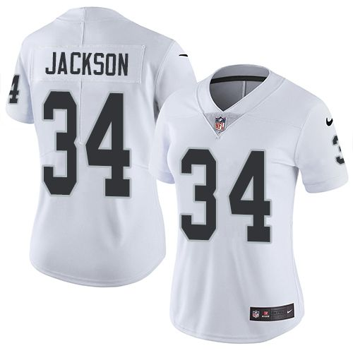 ... elite uk nike raiders 34 bo jackson white womens stitched nfl vapor  untouchable limited jersey and 3bbd4 ... 520a7d7e9