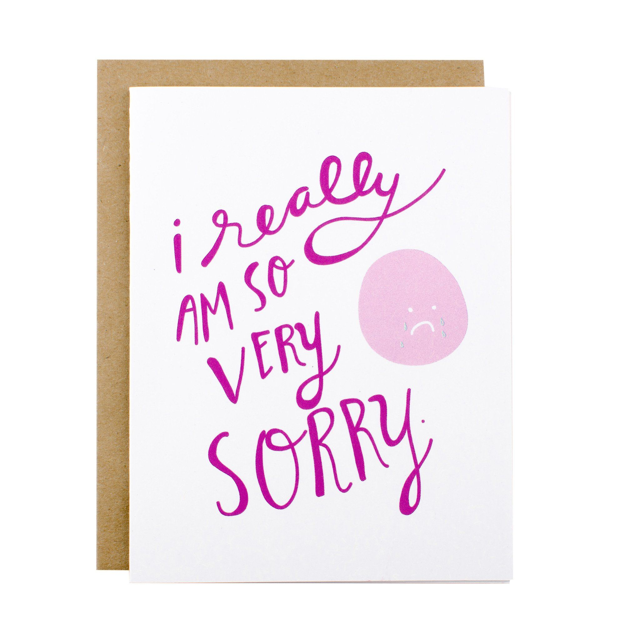 So Very Sorry Sorry Cards Apology Cards Sympathy Cards