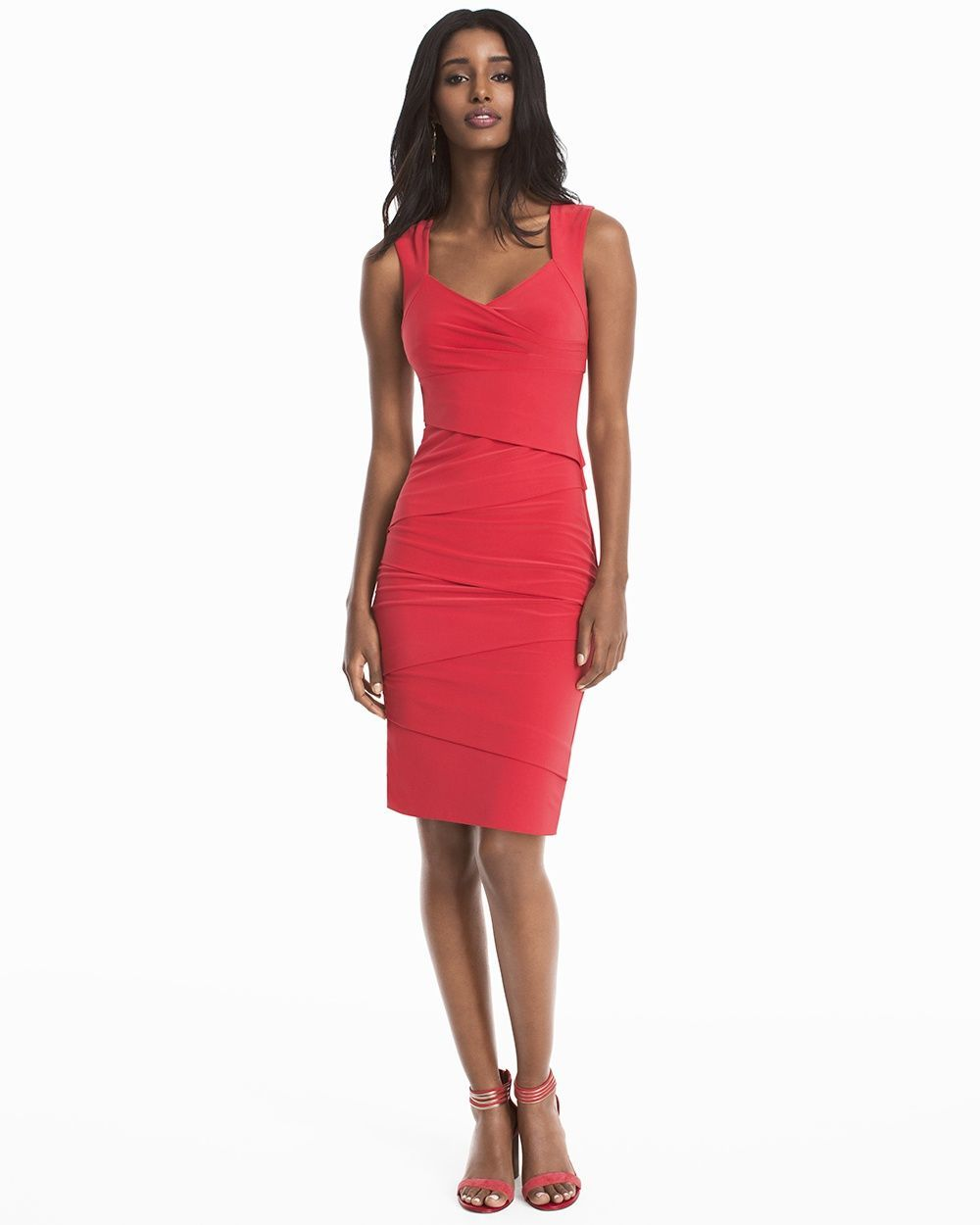 8be388534bef9 Women's Tiered Instantly Slimming Red Dress by WHBM | Products ...