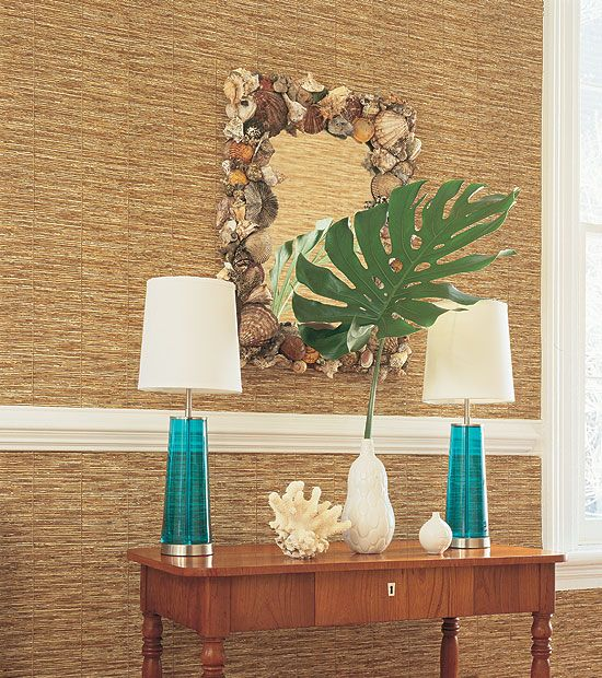 Thibaut Wall Wallpaper Tiki House Grasscloth Wallpaper