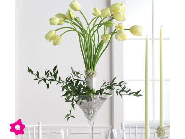 Tulipanes como flores de boda