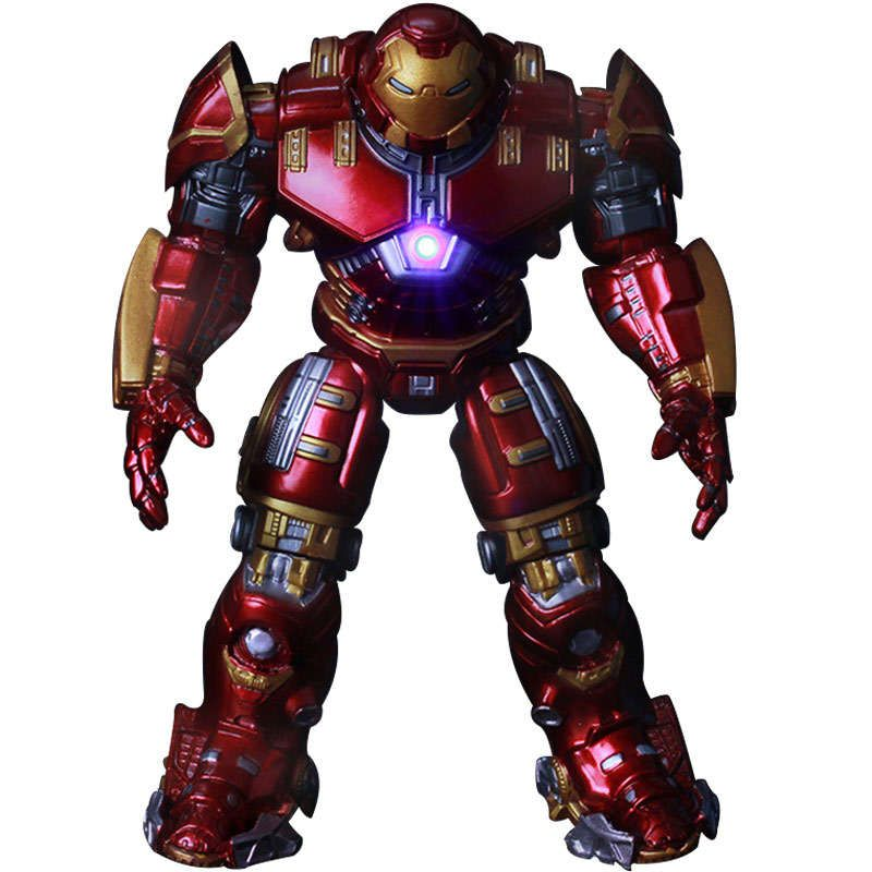 New Movie Avengers 2 18cm Age of Ultron light Iron Man Metal Mark 43 Hulkbuster PVC Action Figure Toys Dolls Gift  Kids Toys