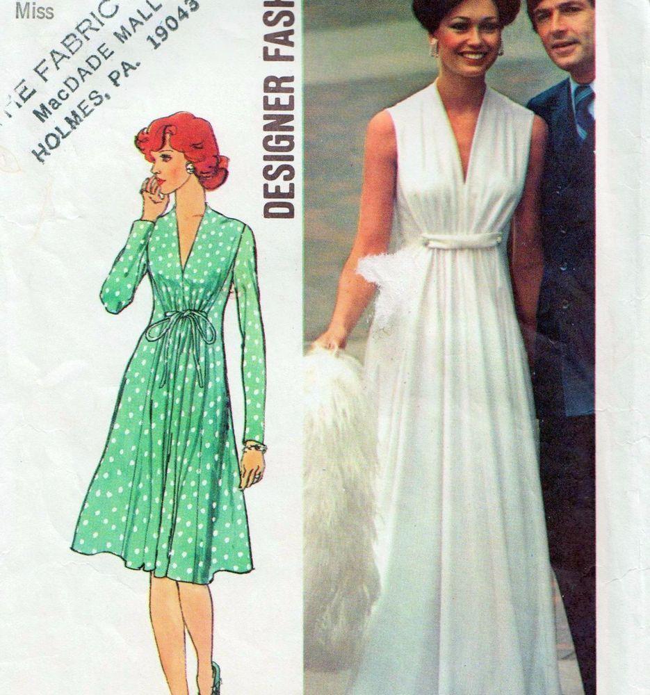 Details about designer vintage s dress sewing pattern bust