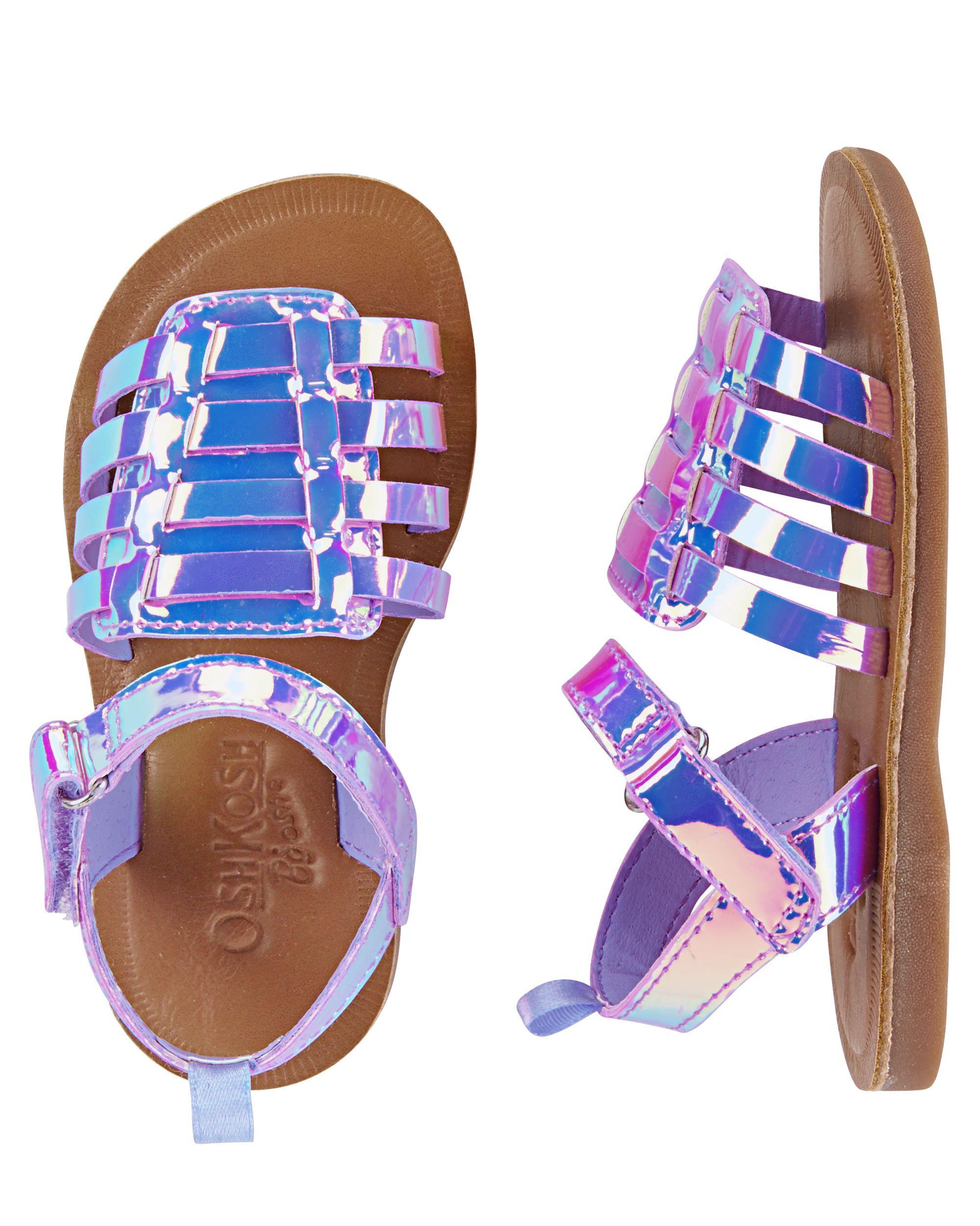 tied busty-milf 2girl  OshKosh Iridescent Gladiator Sandals
