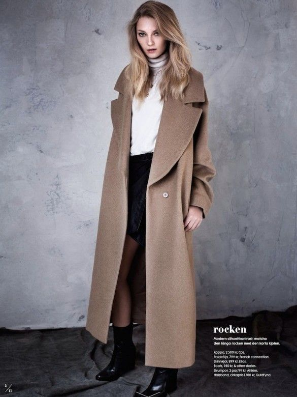 Perfect trench coat for fall in ELLE Sweden.