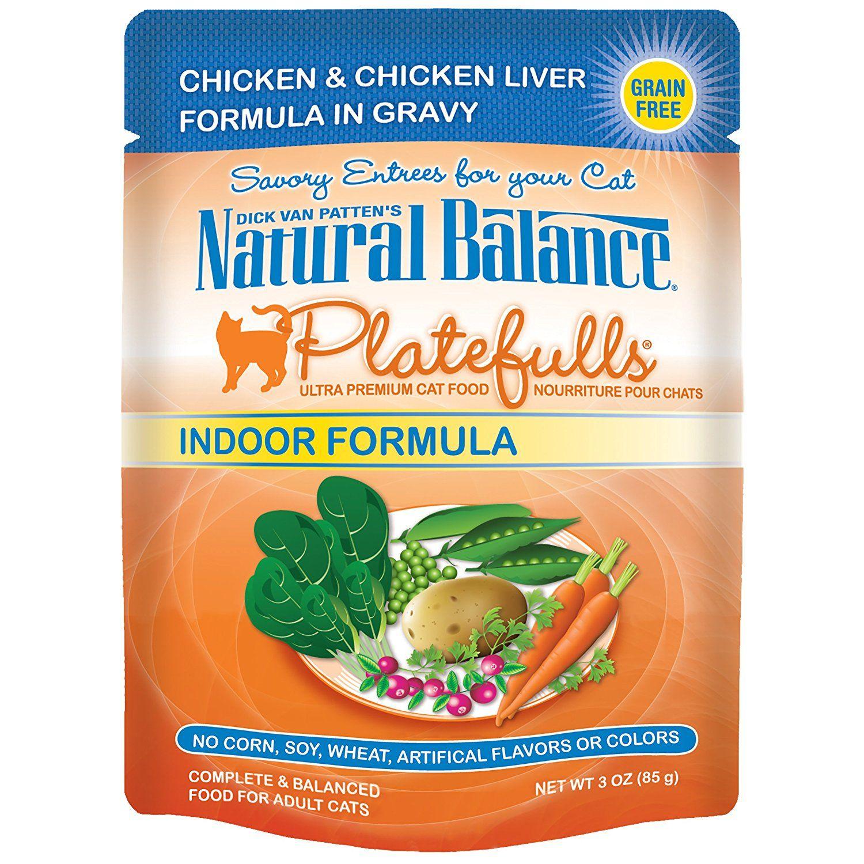 Natural balance indoor platefulls cat pouch pack of 24