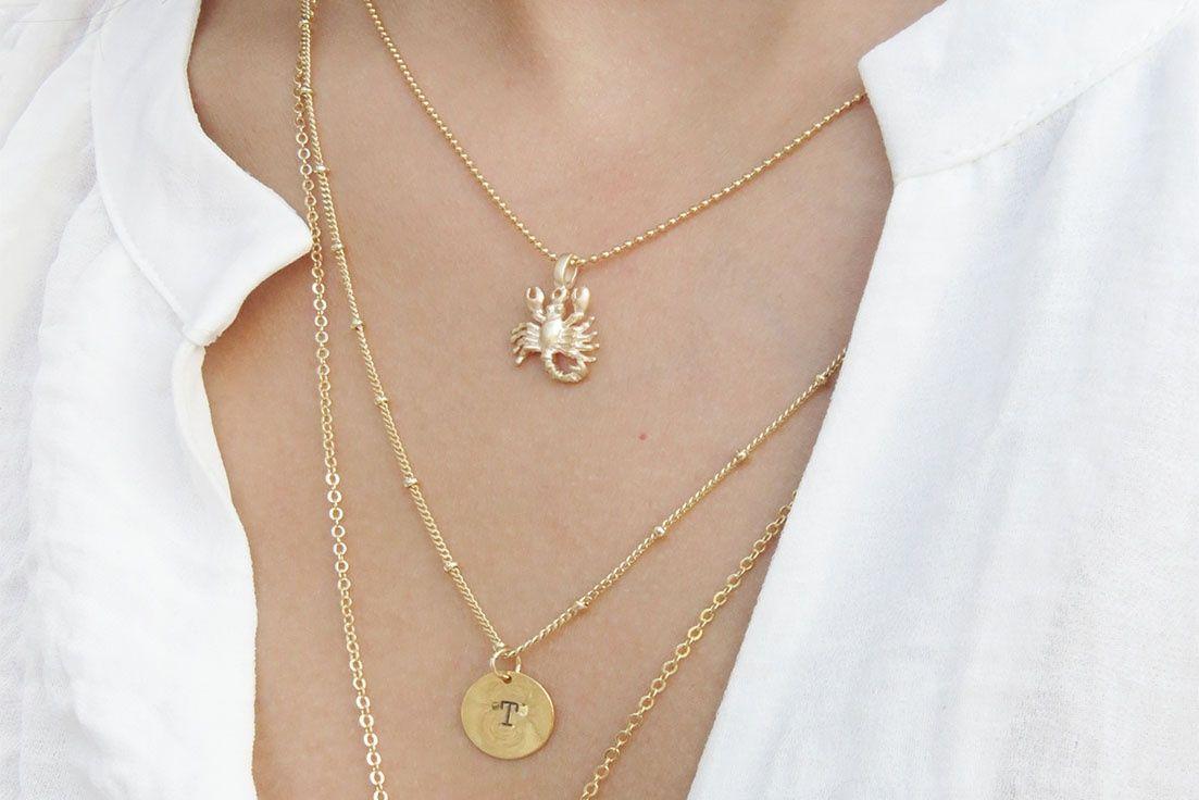 Gold Zodiac Necklace - Sweetheart Jewelry Box
