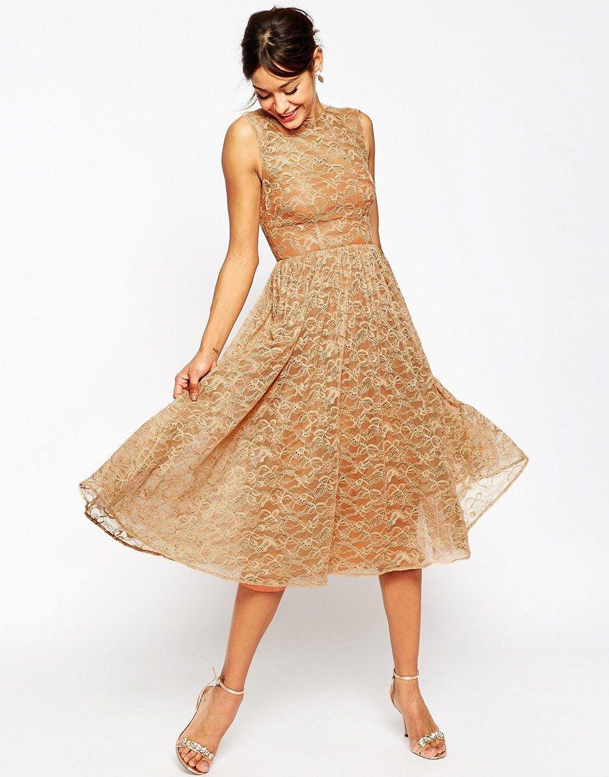 Image 4 ofASOS WEDDING Lace Prom Dress