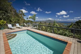 Sea Breeze house on Bordeaux Mountain in St. John, USVI.  Very secluded and amazing views of the sunrise over Coral Bay.
