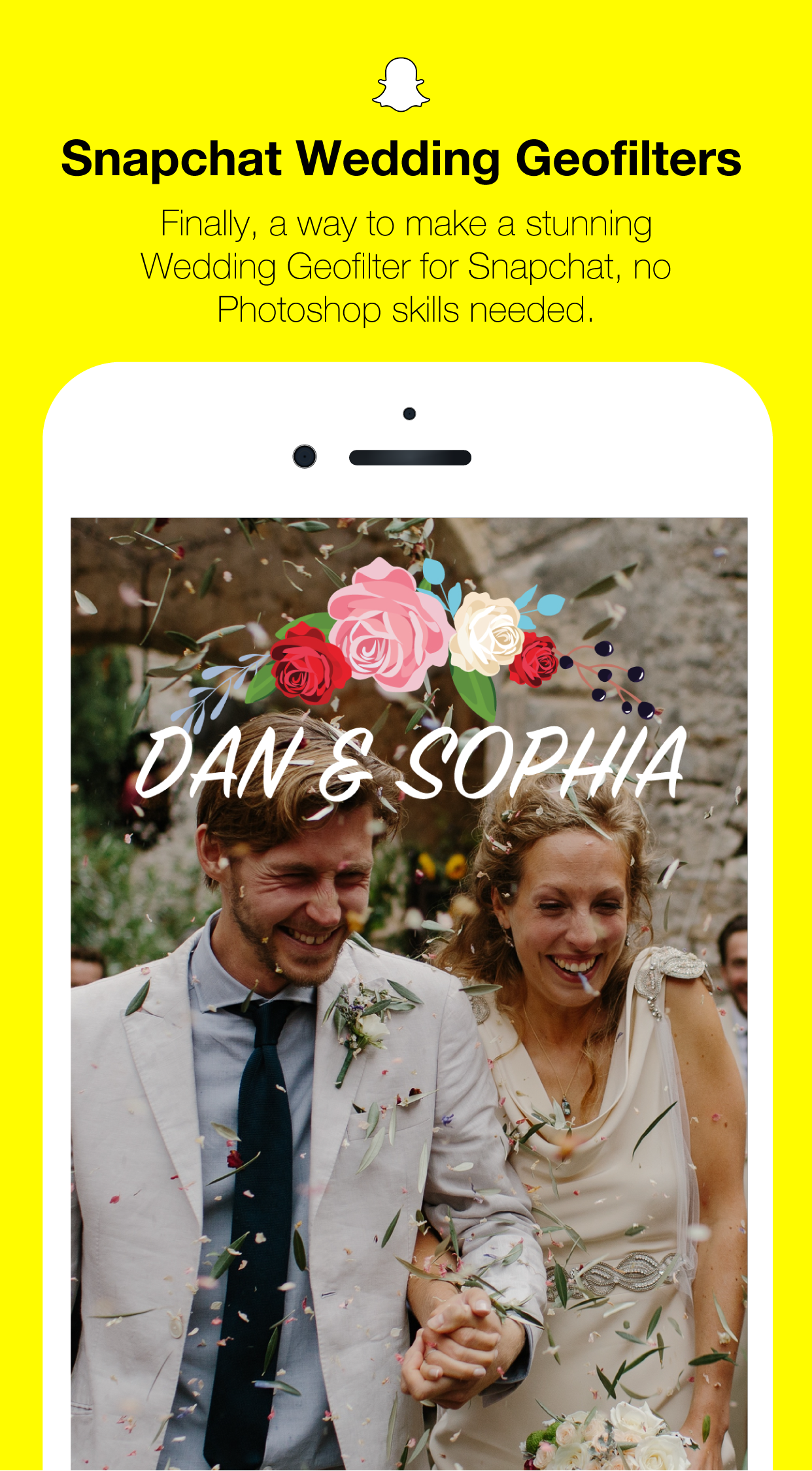 Design your Wedding filter on Snapchat with the new