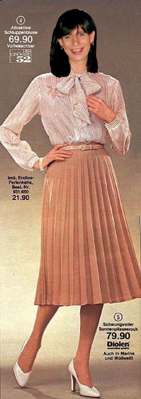 Pleats faltenrock martina in foreign pictures 2 pinterest bluse faltenrock und 80er mode - 80er damenmode ...