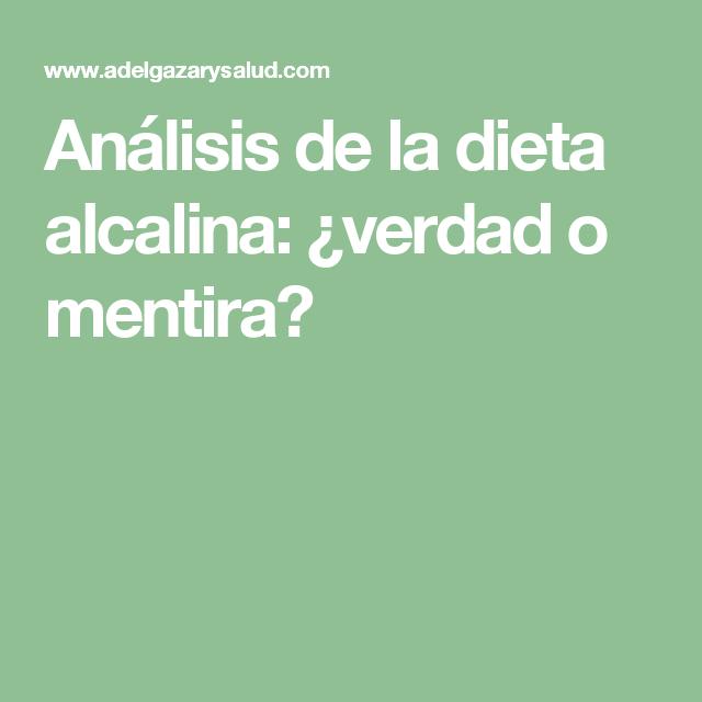 Análisis de la dieta alcalina: ¿verdad o mentira?