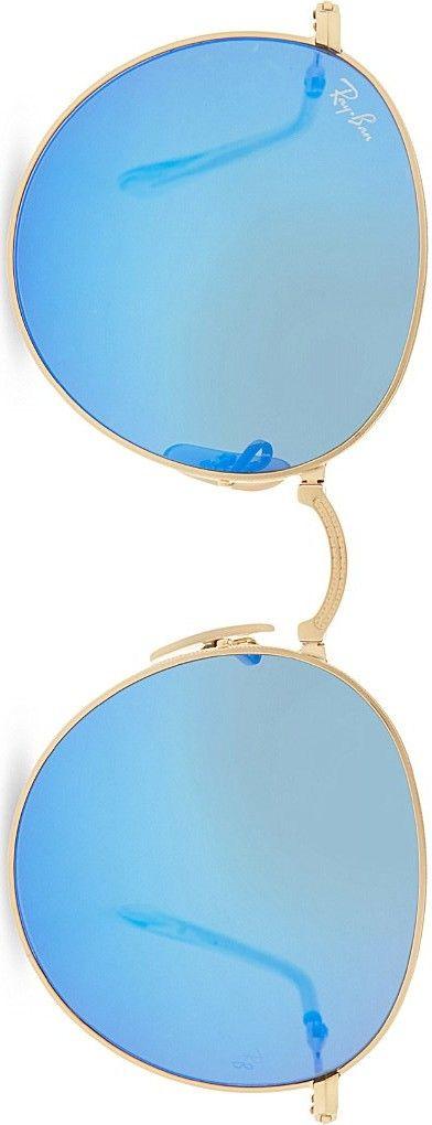 RAY-BAN  folding round-frame sunglasses