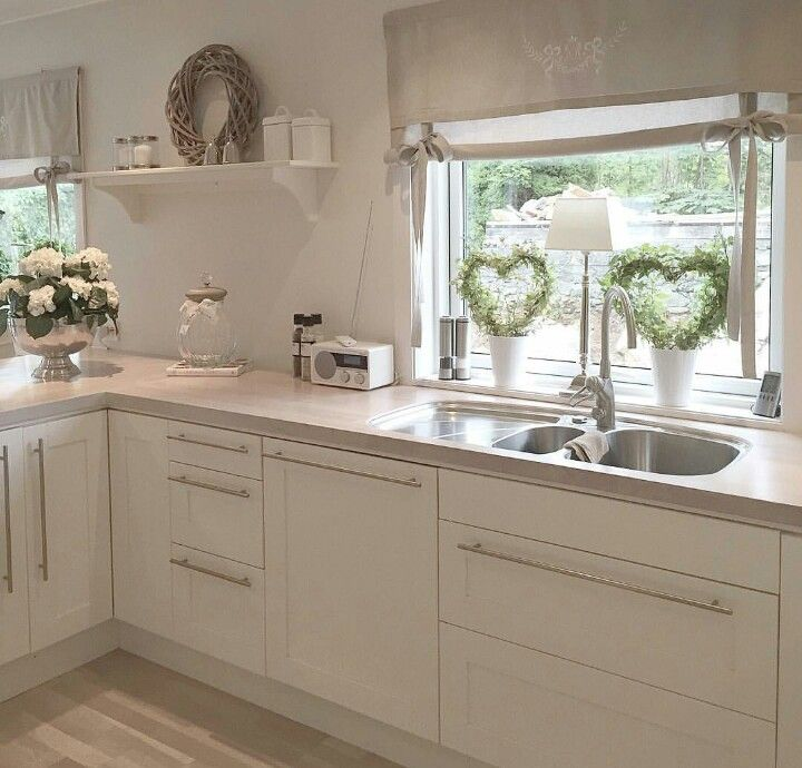 Kitchen Window Furnishings: I Love Neutral Colours!