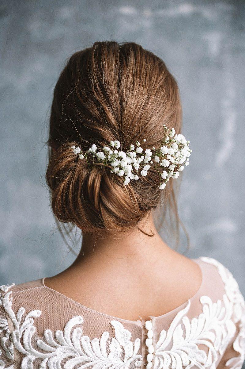 Brautfrisuren mit Blumen - 28 Ideen für Blumen im Haar #bridalhairflowers