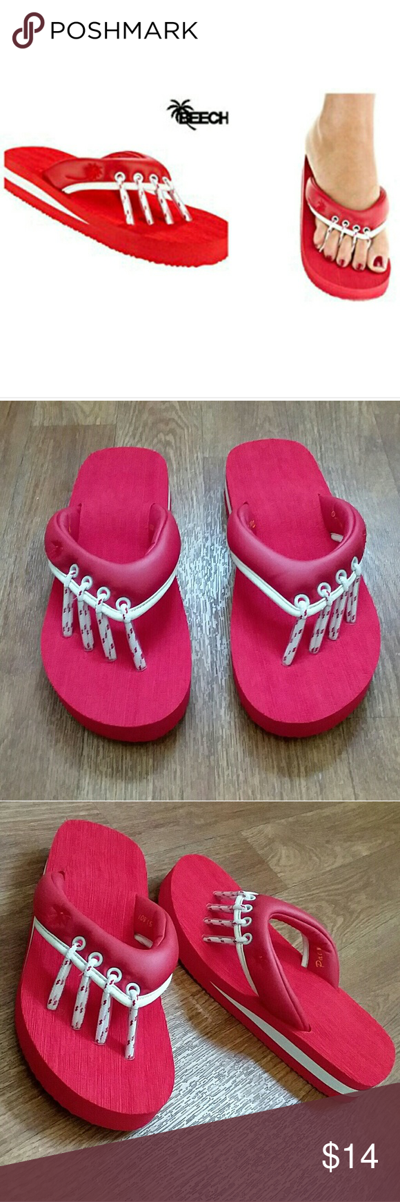 4c1d73bfe NWT - Beech Red Yoga   Pedicure Sandals - Size S NWT - Beech Red Yoga and Pedicure  Sandals in Size Small. New in bag. Beech Shoes Sandals