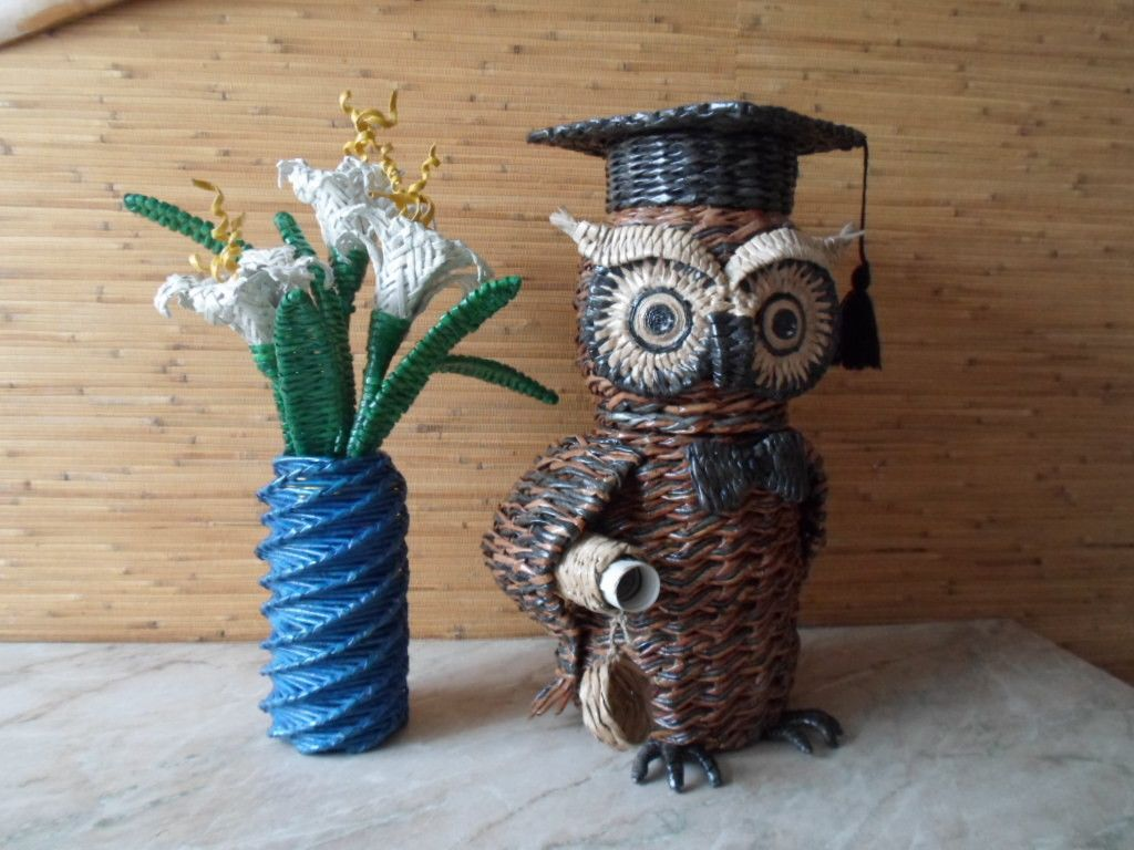 Креативное плетение из газет — Фото | OK.RU | Лозы ...