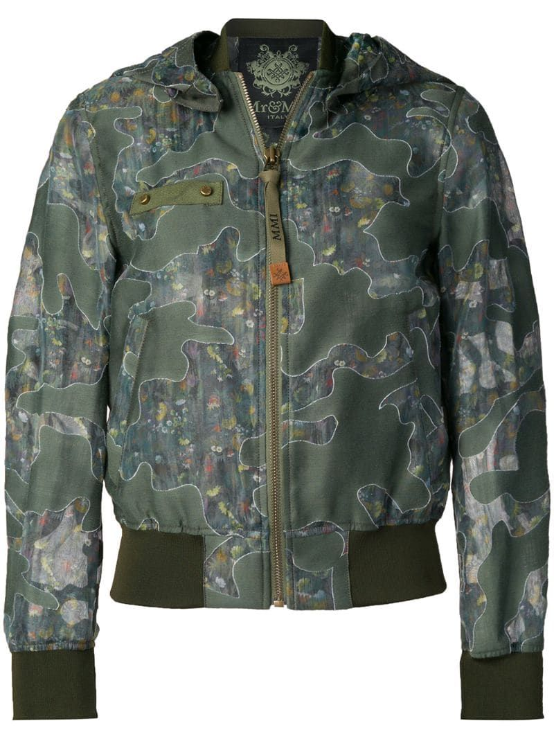 2020 的 Mr & Mrs Italy camouflage print bomber jacket