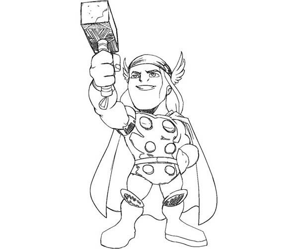 Coloring Pages, Coloring Sheets, Thor