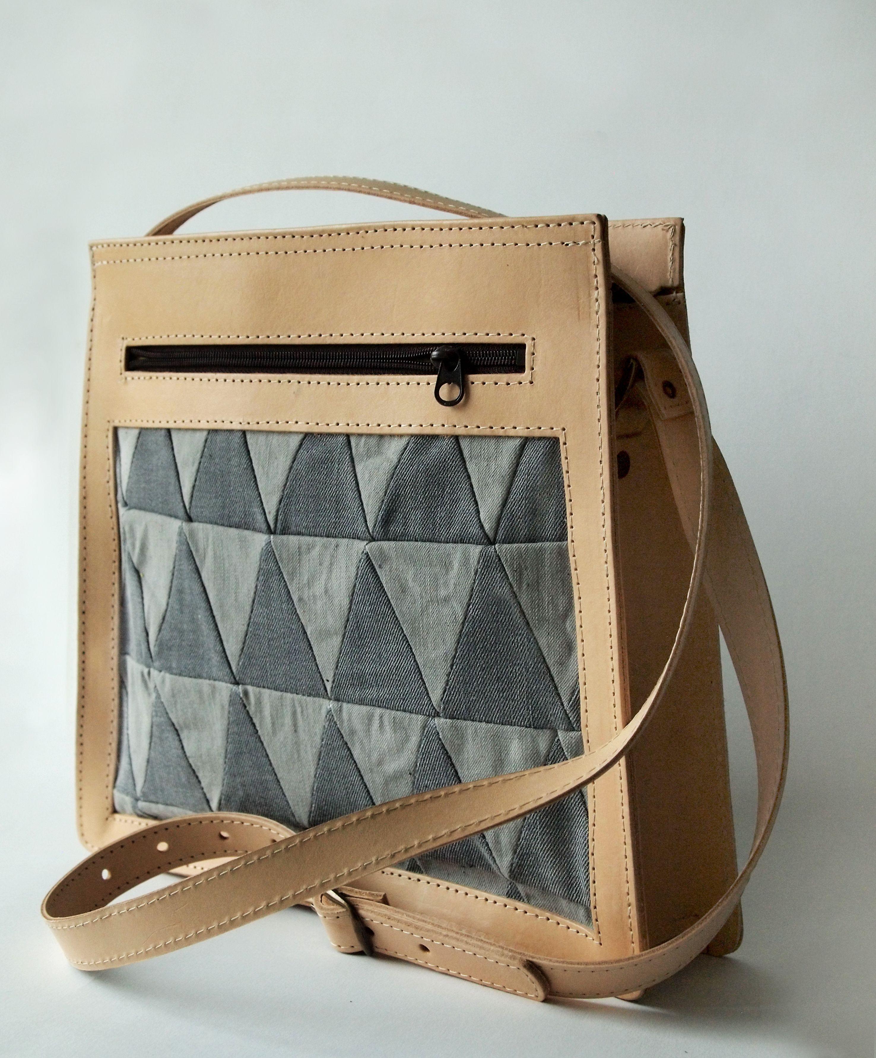 Around Collective/Mocklis Bag of recykeld material. Slow fashion, denim, re-design