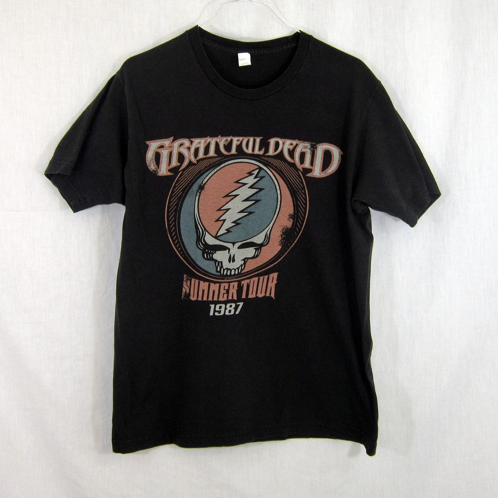 f3f8e00cce91 Grateful Dead Summer Tour 1987 T-Shirt Distressed Faded Medium Two Sided  Graphic