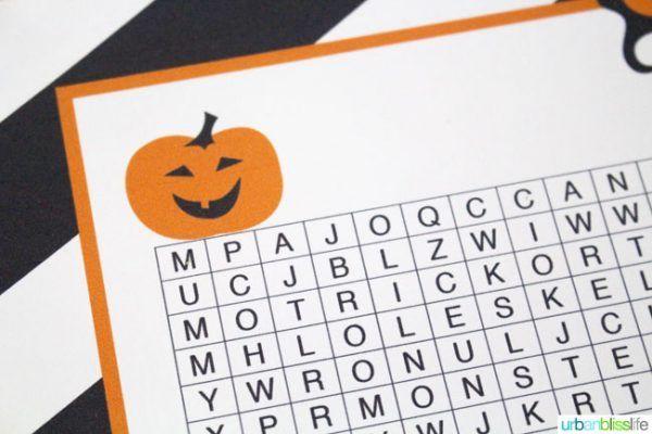 Free Halloween Word Search Printable Halloween decorations - print halloween decorations